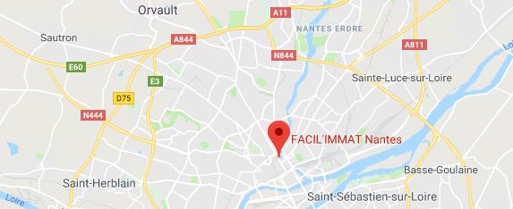 Itinéraire vers Facil'Immat Nantes