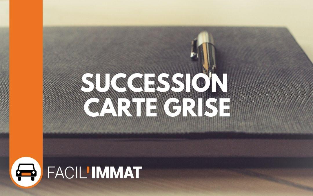 Succession carte grise – Quelles procédures vous concernent ?