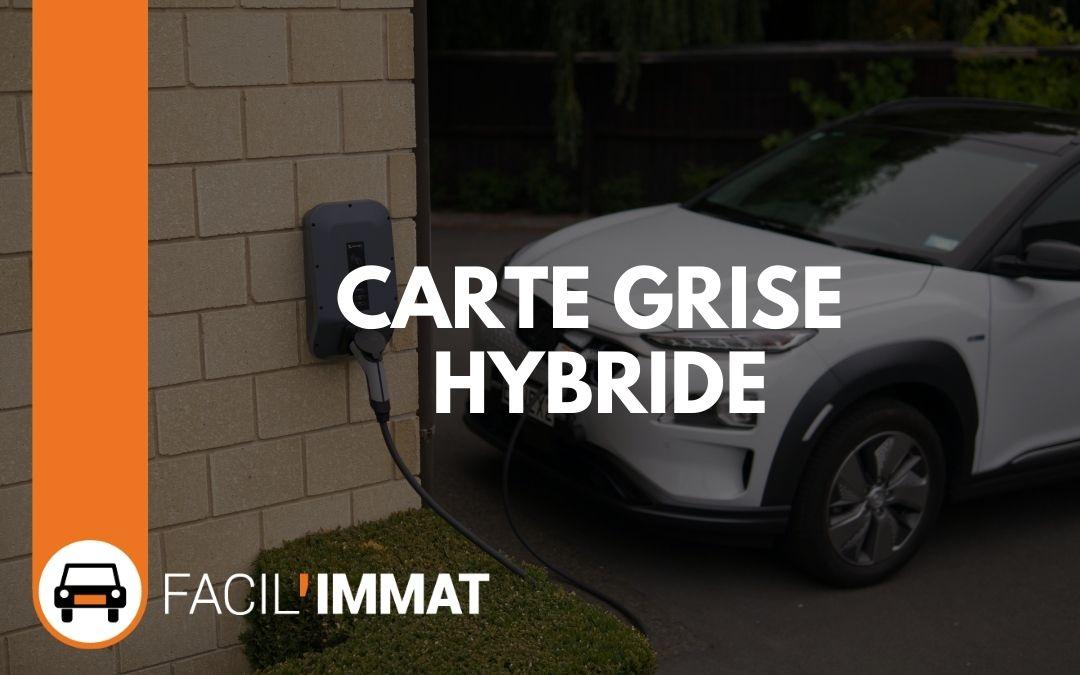 Carte grise hybride (presque) gratuite ?